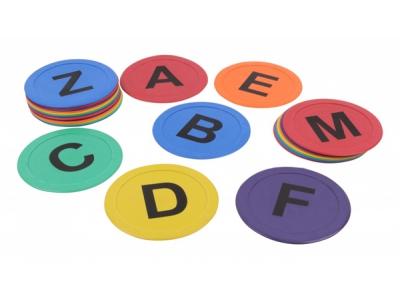 Vloermarkering met letters A t/m Z