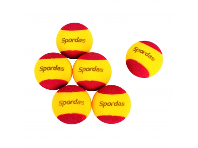 Foam tennisbal, set van 6