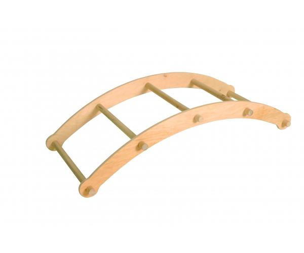 Houten gebogen ladder