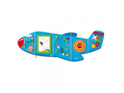 Activity Center - Wandspeelbord Vliegtuig Groot