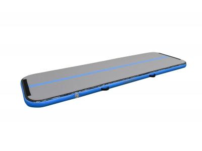 12SPRINGS Airtrack L300xB100xH10cm, incl. compressor, grijs/licht blauw