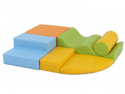 Soft Play foam blokken set 5A, 6-delig, pastel