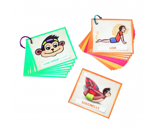Kinderyoga mini positiekaarten en emotiekaarten