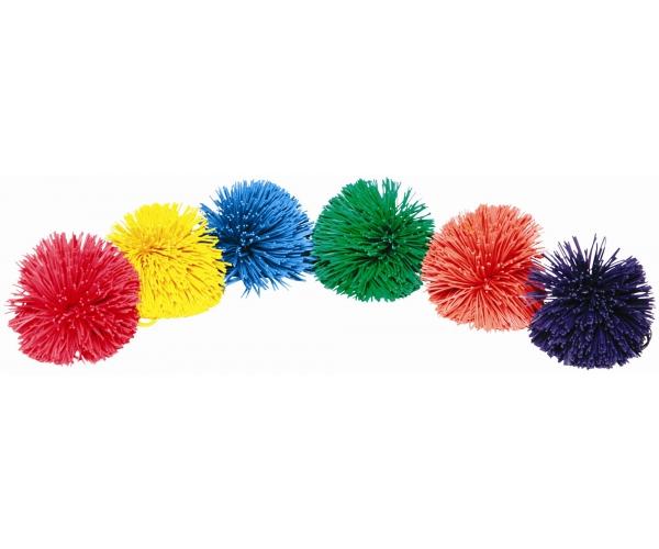 Pom Pom bal 10 cm, set van 6