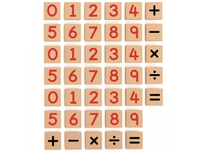 Magneet set Cijfers, 40-delig