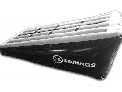 12SPRINGS Schuin vlak grijs/zwart L200xB100xH60 cm