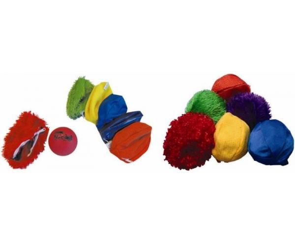 Tasthoesjes voor bal met knikkers