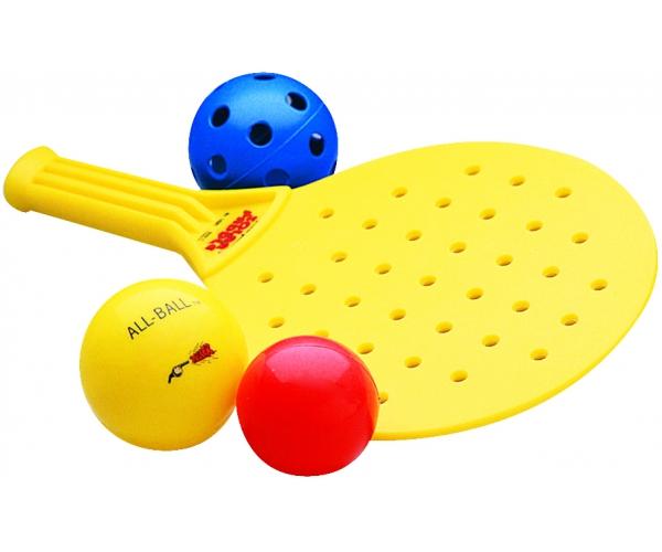 Plastic tennisrackets, set van 2